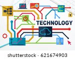 social media and network... | Shutterstock . vector #621674903
