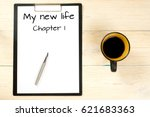 my new life  chapter one | Shutterstock . vector #621683363