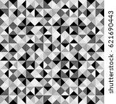 monochrome abstract pattern... | Shutterstock . vector #621690443