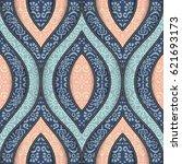 seamless pattern tile. vintage... | Shutterstock .eps vector #621693173