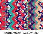 bright summer patchwork with... | Shutterstock .eps vector #621694307