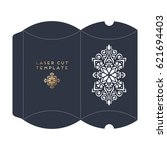 vector wedding card laser cut... | Shutterstock .eps vector #621694403
