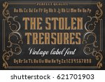 the stolen treasures   vintage... | Shutterstock .eps vector #621701903