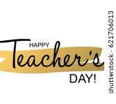 teachers day holidays card... | Shutterstock .eps vector #621706013