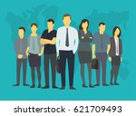 company business group people... | Shutterstock .eps vector #621709493