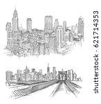 new york hand drawn | Shutterstock .eps vector #621714353