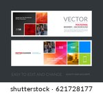 vector set of modern horizontal ... | Shutterstock .eps vector #621728177