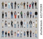diversity people set gesture... | Shutterstock . vector #621733283