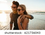 outdoor shot of beautiful young ... | Shutterstock . vector #621736043