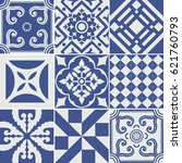 vector set of tiles background. ... | Shutterstock .eps vector #621760793