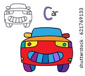 car. coloring book page.... | Shutterstock .eps vector #621769133