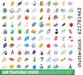 100 university icons set in... | Shutterstock .eps vector #621781463