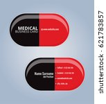 red and black the drug capsules ... | Shutterstock .eps vector #621783857
