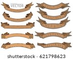 old and classical ribbons vector | Shutterstock .eps vector #621798623