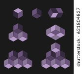 cube logo concept  vector...   Shutterstock .eps vector #621804827