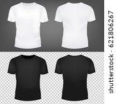 t shirt template collection... | Shutterstock .eps vector #621806267
