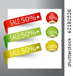 paper tags   sale announcement  ... | Shutterstock .eps vector #62182528