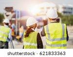 businessman and businesswoman...   Shutterstock . vector #621833363