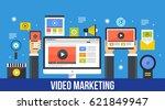 video content marketing  media... | Shutterstock .eps vector #621849947