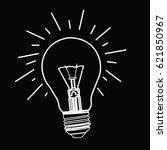 bulb white bulb with black... | Shutterstock .eps vector #621850967