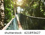 long elevated walkway through... | Shutterstock . vector #621893627