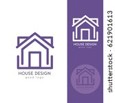 house logo design template flat ... | Shutterstock .eps vector #621901613