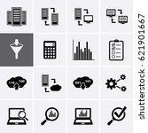 data analysis icons network