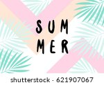 retro typographic summer design ... | Shutterstock .eps vector #621907067