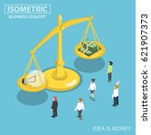 flat 3d isometric business... | Shutterstock .eps vector #621907373