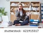 busy angry businesswoman...   Shutterstock . vector #621915317