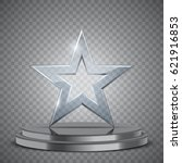 glass award in the form of star ...