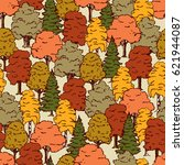 pattern of the autumn forest | Shutterstock .eps vector #621944087