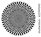 optical checkered  illusion... | Shutterstock .eps vector #621949343