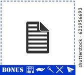document icon flat. simple...
