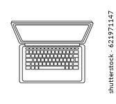 laptop computer icon   Shutterstock .eps vector #621971147