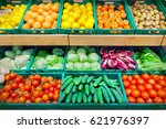 fruits and vegetables | Shutterstock . vector #621976397