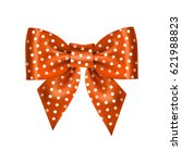 realistic vector double gift bow | Shutterstock .eps vector #621988823
