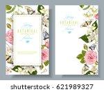 vector botanical vertical... | Shutterstock .eps vector #621989327