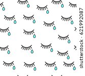 cry. seamless background with... | Shutterstock .eps vector #621992087