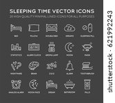 set of minimal sleep time... | Shutterstock .eps vector #621992243