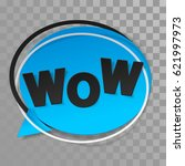 blue paper sticker  label with... | Shutterstock .eps vector #621997973