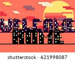 inscription welcome home made... | Shutterstock .eps vector #621998087