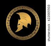 symbol a spartan helmet  an... | Shutterstock . vector #622005503
