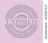 expired retro style pink emblem | Shutterstock .eps vector #622007117