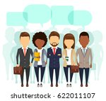 a group of office staff lined... | Shutterstock .eps vector #622011107