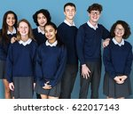 group of diverse students... | Shutterstock . vector #622017143