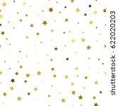 golden stars confetti... | Shutterstock .eps vector #622020203