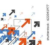 abstract success concept.... | Shutterstock .eps vector #622041977