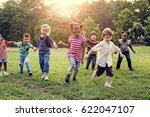 Group Diverse Kids Playing Field - Fine Art prints