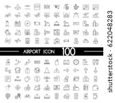 airport outline icon icons | Shutterstock .eps vector #622048283